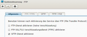 SFTP Aktivieren