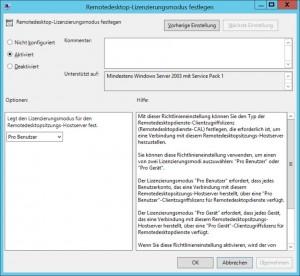 Remotedesktop-Lizenzierungsmodus