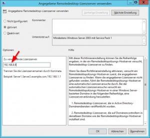 Remotedesktop-Lizenzserver