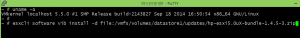 esxcli software vib install -d file:/vmfs/volumes/datastore1/update/hp-esxi5.0uX-bundle-1.4.5-3.zip
