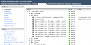 vSphere Client Systemstatus