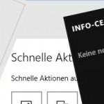 Windows 10 Info-Center Benachrichtigungen