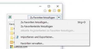 internet Explorer Lesezeichen Import