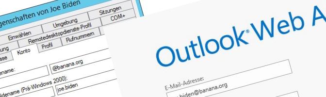 Exchange Benutzerprinzipalname UPN