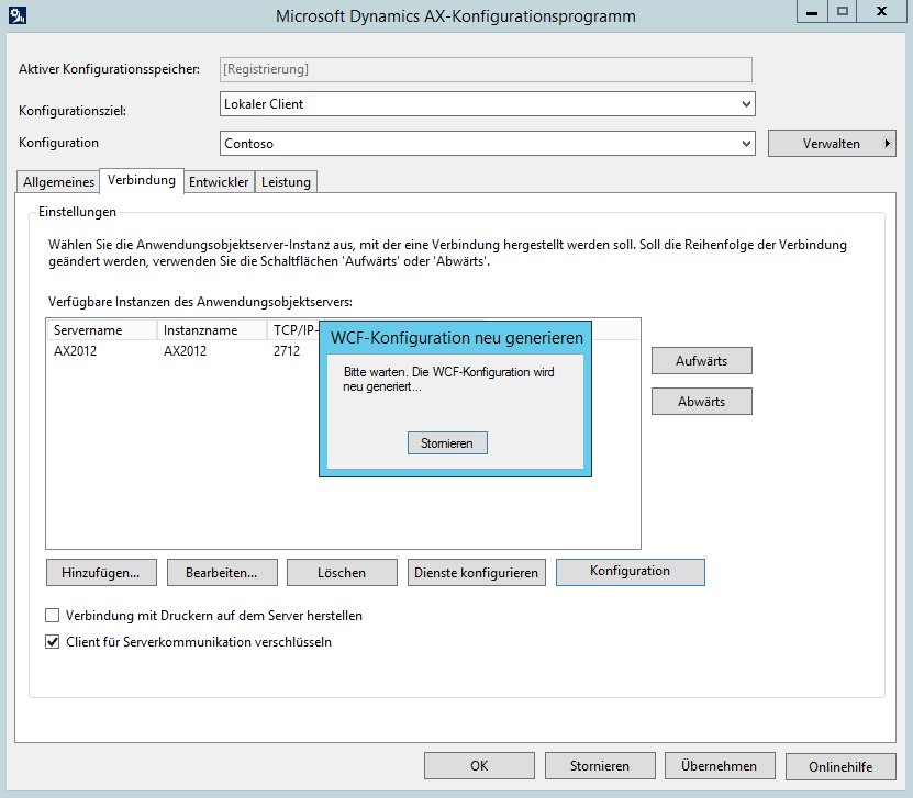 Microsoft Dynamics AX-Konfigurationsprogramm