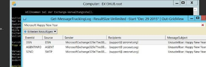 Exchange 2013 Logging Message Tracking