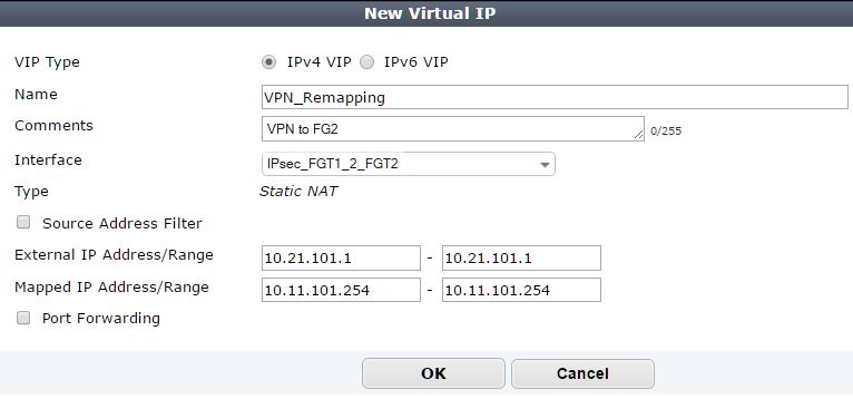 New Virtual IP