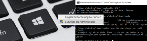 Command Prompt als Administrator