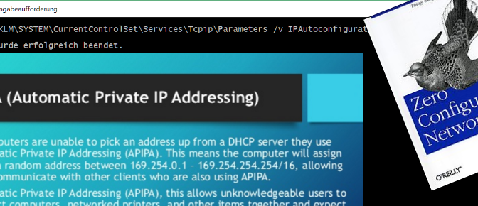Automatische Konfiguration IPv4 Link-Local – APIPA deaktivieren