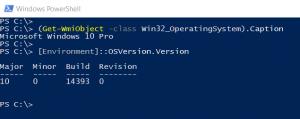 windows version cmdlet