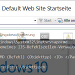 IIS7 WebSite Export – Import