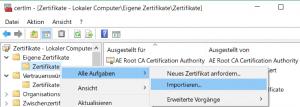 Zertifikat-Snap-In