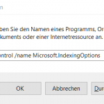Outlook 2016 Indizierung