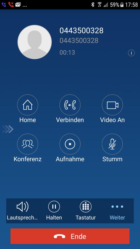 fe auf iOS und Android Smartphone