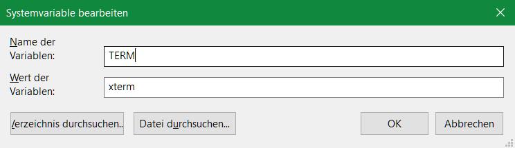 Windows Systemvariablen