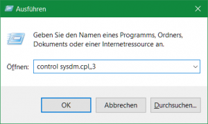 control sysdm.cpl,,3