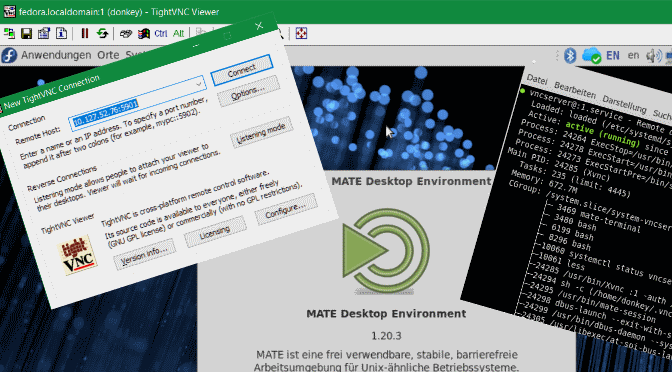 vncserver Installation auf Fedora 28
