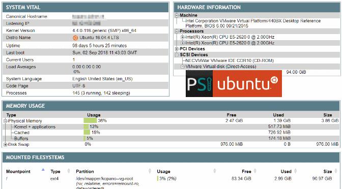phpSysInfo Installation auf Ubuntu