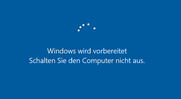 Windows wird vorbereitet