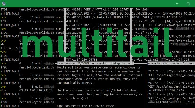 MultiTail zum überwachen mehrer Log-Dateien