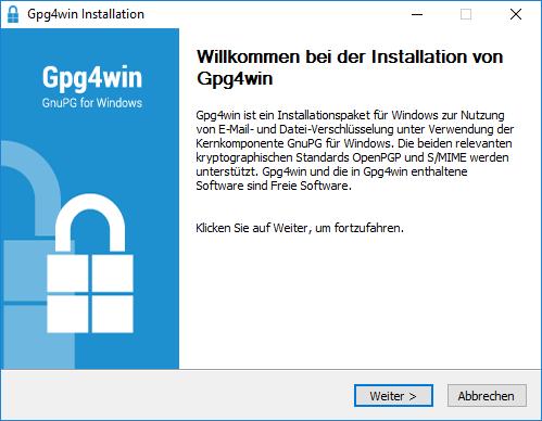 Nach dem Gpg4win auf dem Windows 10 Computer Installiert ist, findet sich das Outlook-Plugin GpgOL im Outlook Ribbon.