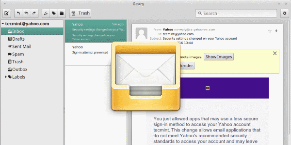 Linux email client Geary