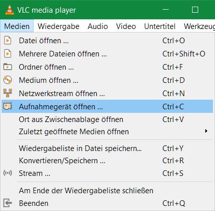 In der nachfolgenden Bilderstrecke wird gezeigt, wie man mit dem VLC Player ein MP4 Video aufzeichnet, dieses man beispielsweise auf Youtube hochladen kann