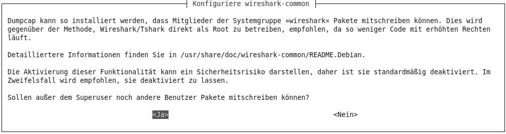 sudo dpkg-reconfigure wireshark-common