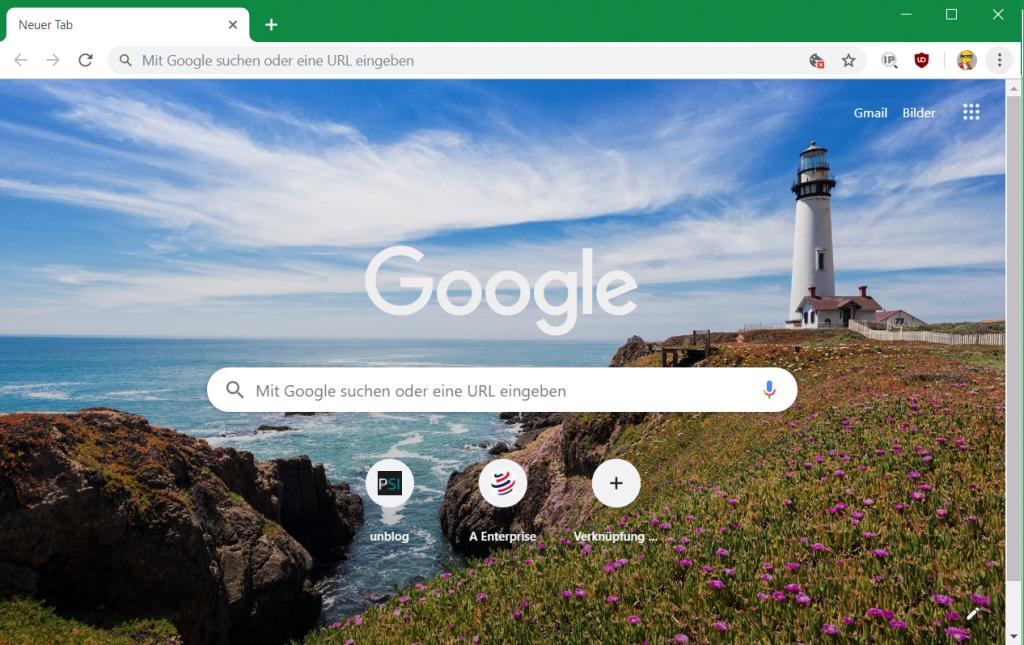 In Chrome auf der rechten unteren Seite ein Stift Symbol (Diese Seite anpassen).