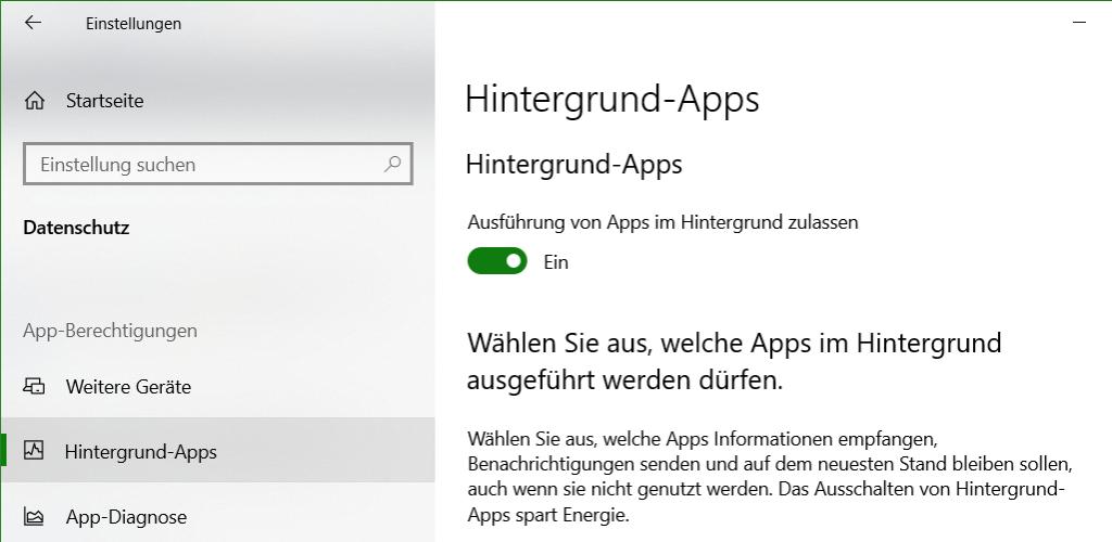 Damit Windows-Blickpunkt funktioniert, muss die Einstellung - Datenschutz - Hintergrund-Apps aktiviert sein.