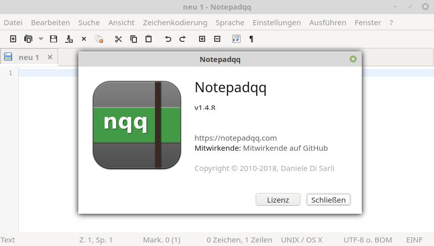 Notepadqq on Linux Desktop