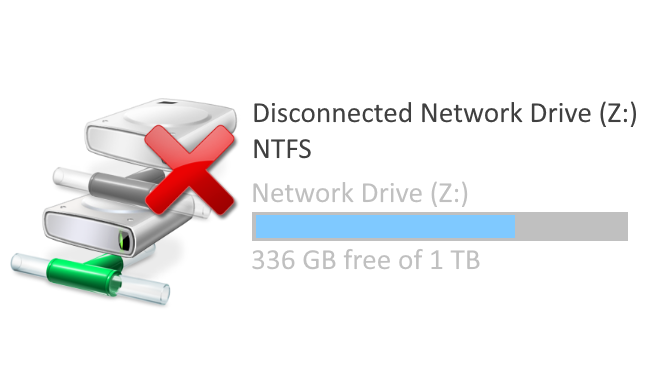 Explorer with Network Drive Disconnected
