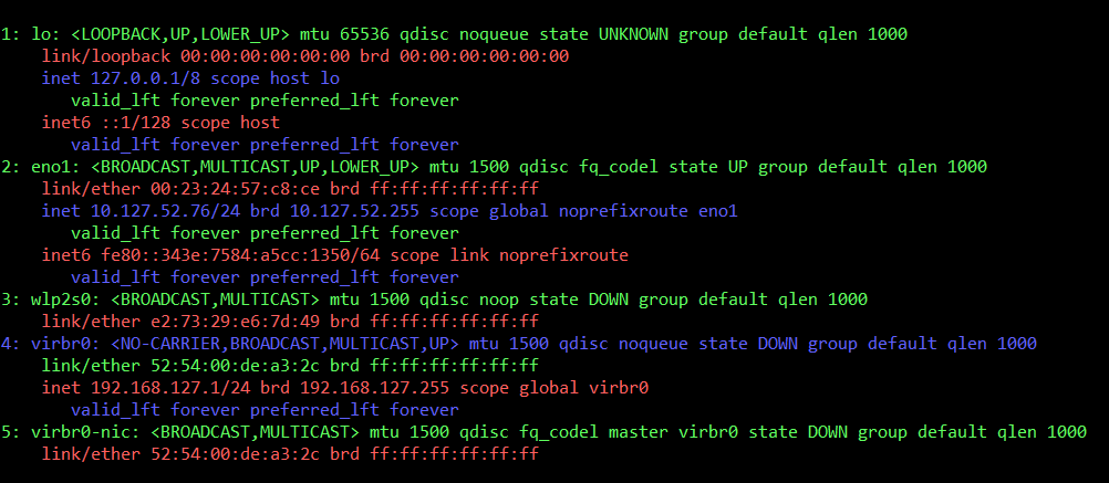 use lolcat to colorize ifconfig