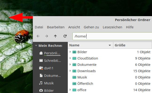 Linux Desktop Fenster Einrasten
