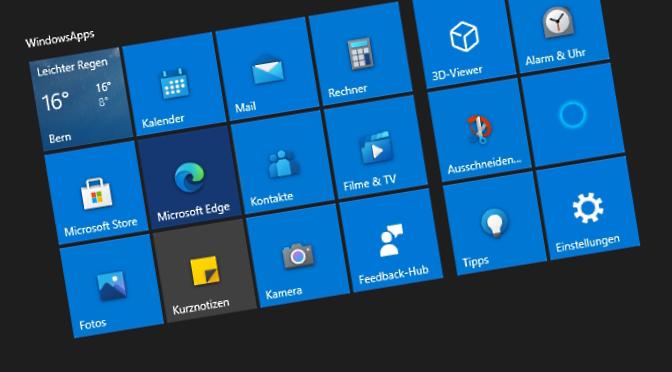 WindowsApps starten nicht mehr