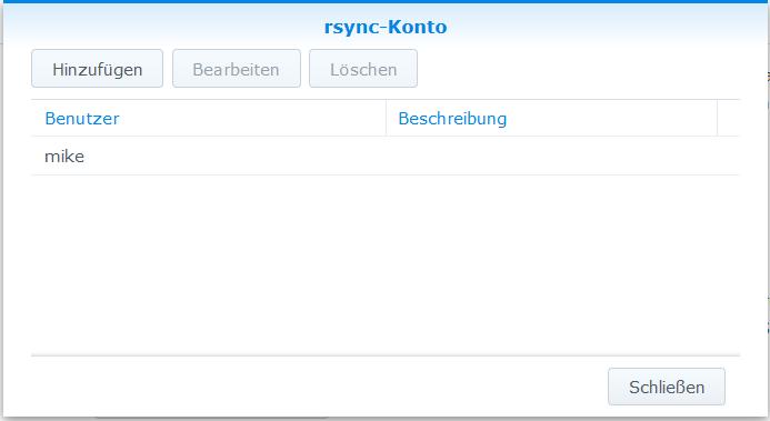 bei Datendienste - rsync - unter rsync-Konto aktivieren - mit dem Button rsync-Konto bearbeiten