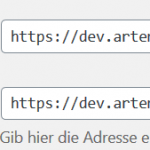 WordPress URL ändern