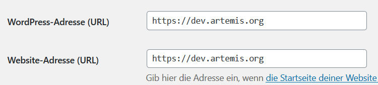 Modify WordPress-Aaddress URL using phpMyAdmin