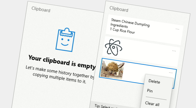 how to enable new windows clipboard history