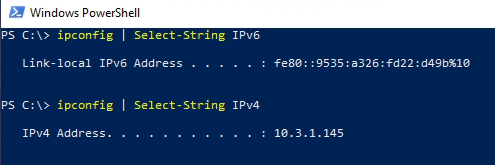 Checking for existing IPv6 addresses in PowerShell