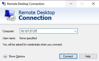 remote desktop connectio