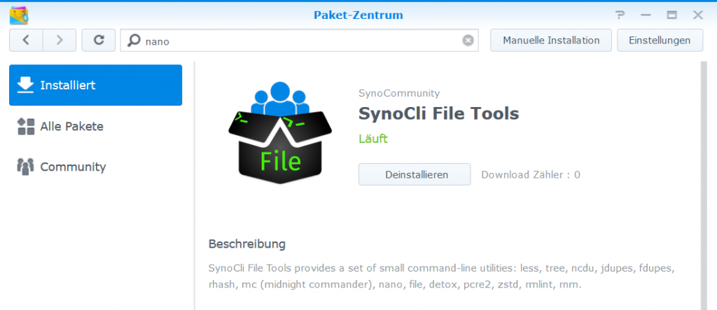 Install Synocli File Tools