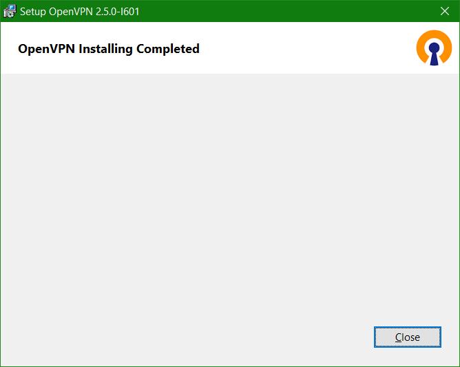 OpenVPN Installing Completed