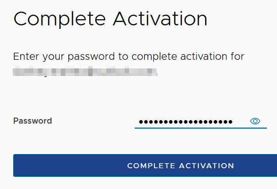 VMware Registration Complete Activation