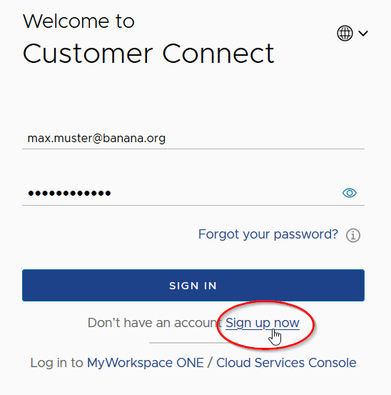 vmware customer connect sign-up