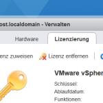 How to register vSphere license Key
