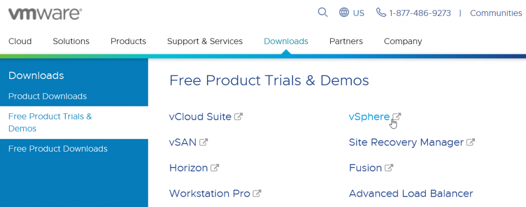 VMware Downloads Free Products Trials & Demos - vSphere