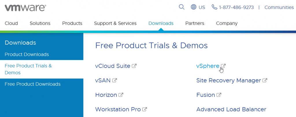 VMware Downloads Free Products Trials & Demos - vSphere