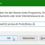 Netzwerk Drucker Verwaltung aus Command Prompt