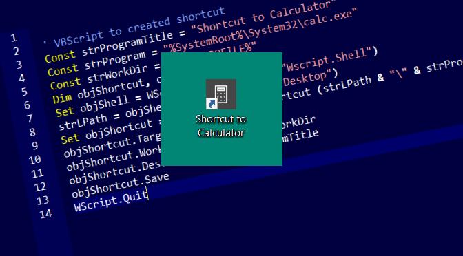 Mit Visual Basic Script Verknüpfungen auf Desktop erstellen